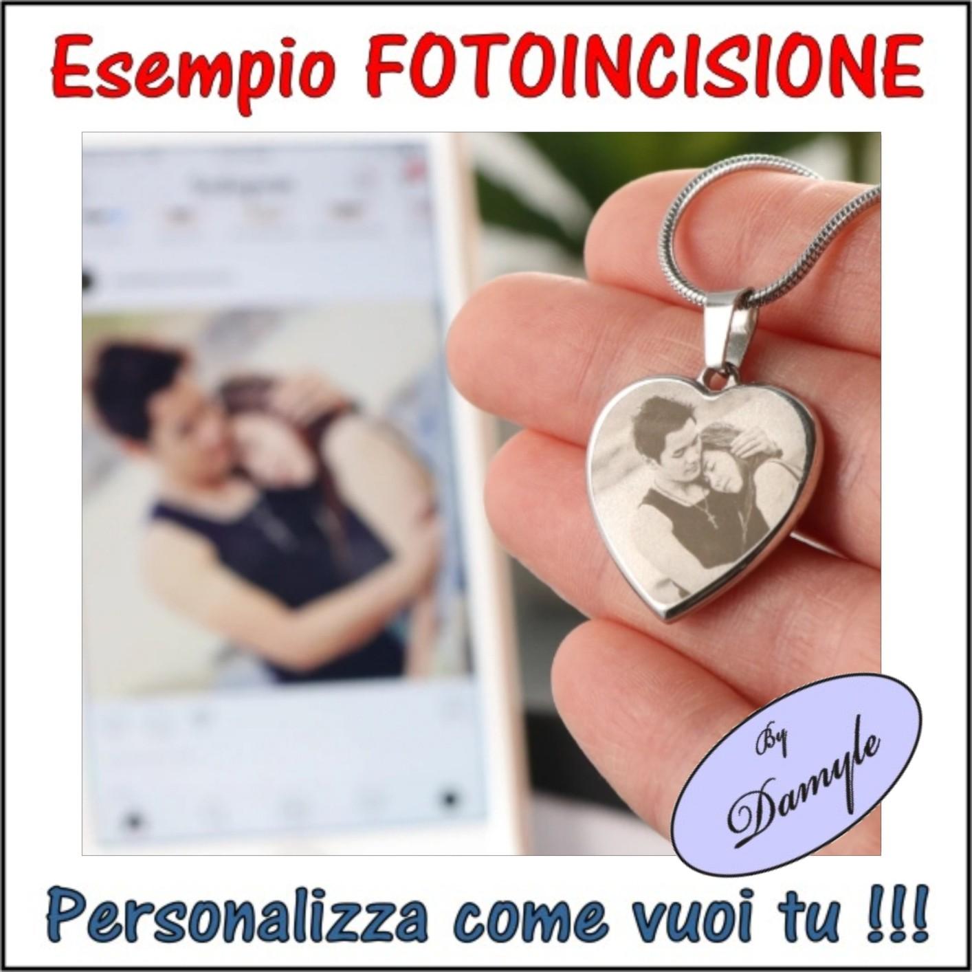 incisione personalizzazione foto incisa personalizzata incidere ciondolo, medaflia, pendente, collana, bracciale, anello