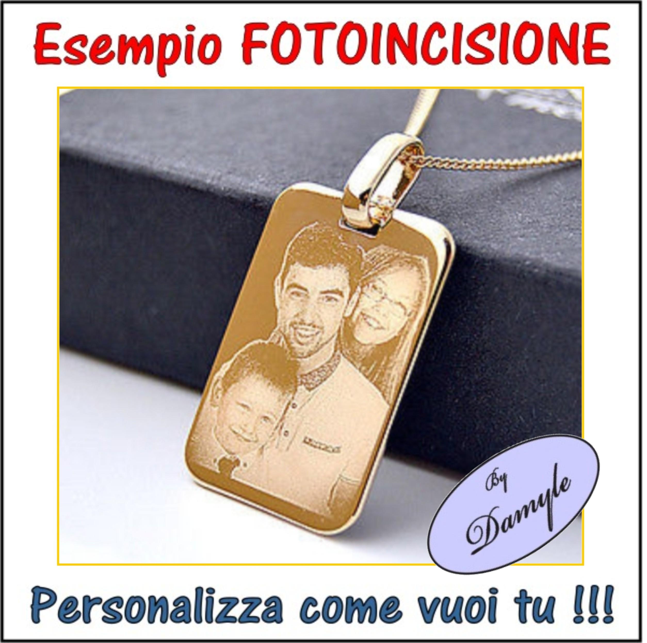 foto incisione personalizzata incidere ciondoli medaglie collane pendenti bracciali anell inciderei