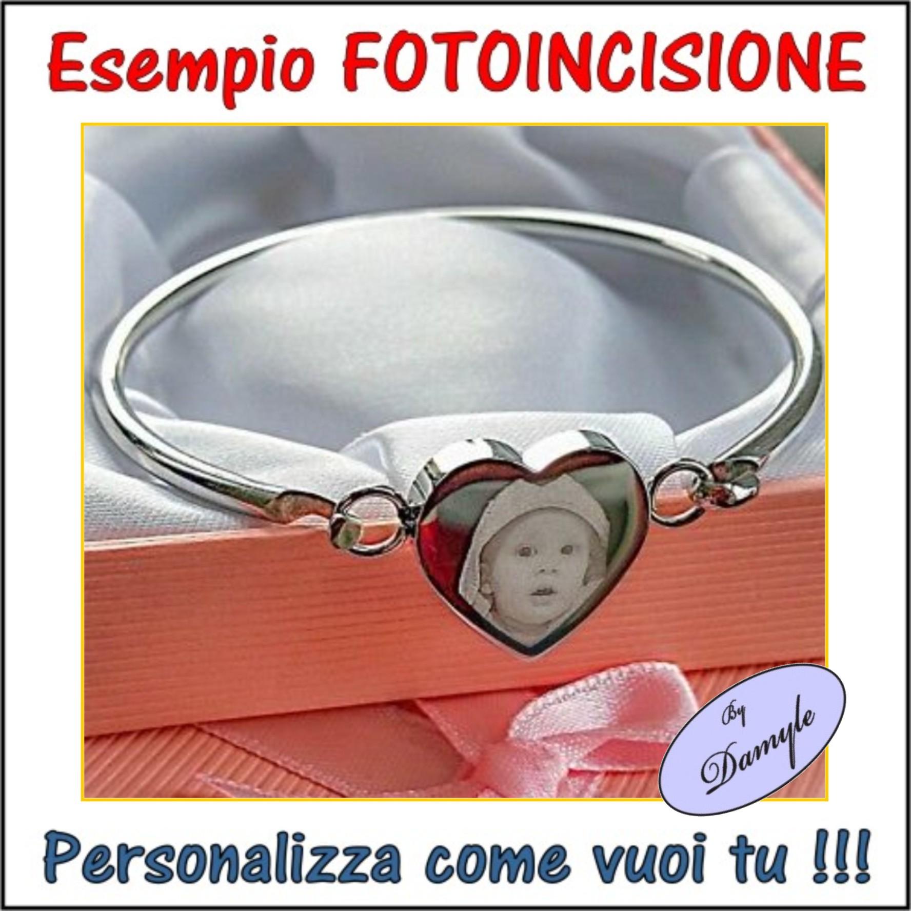 foto incisione personalizzata incidere ciondoli medaglie collane pendenti bracciali anelli milano