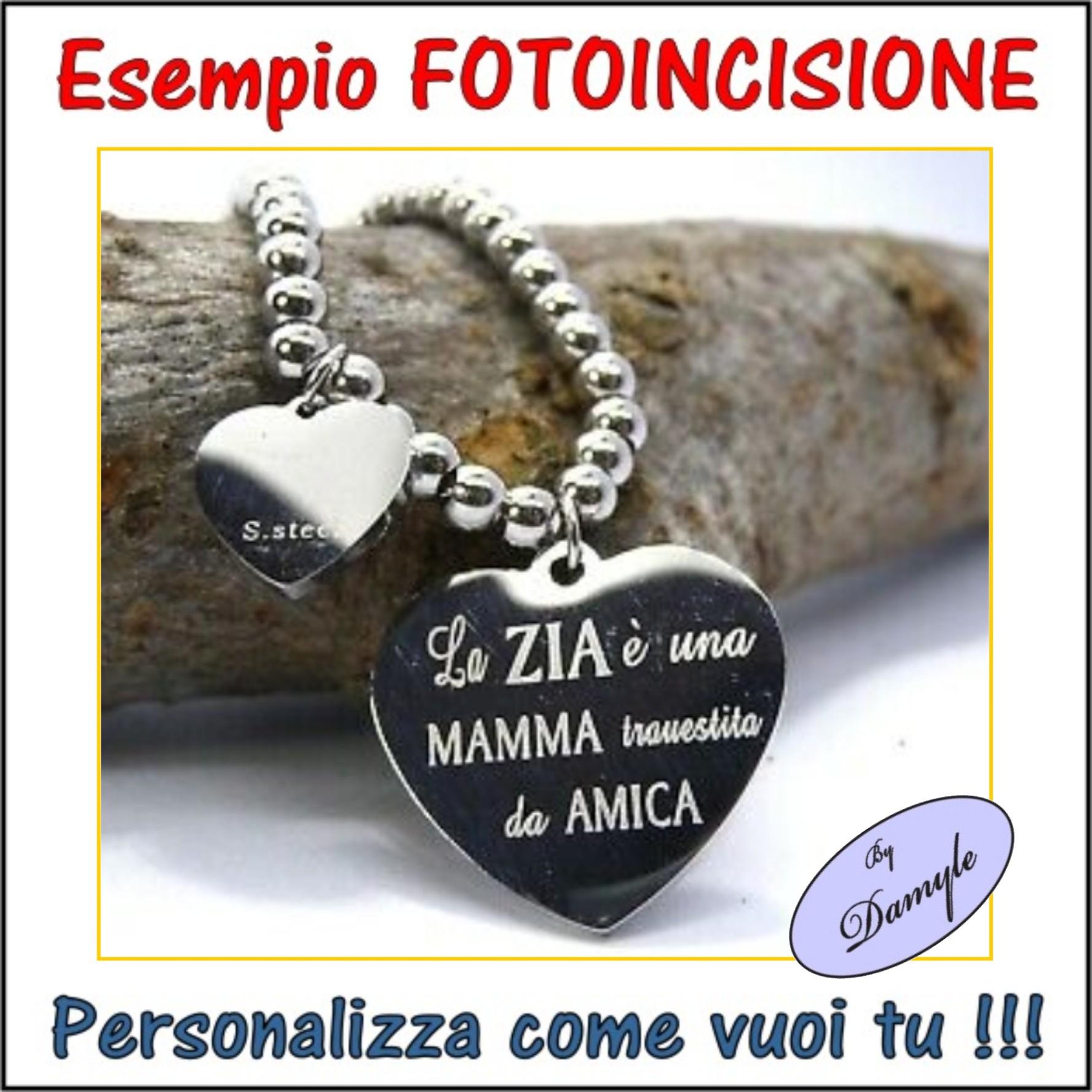 incisione personalizzazione ciondoli medaglie pendenti collane bracciali anelli incisi personalizzati