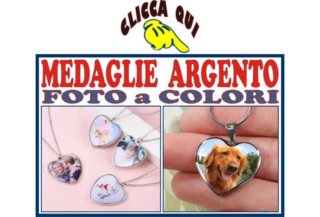 CIONDOLI argento medaglie collane da foto incidere con personalizzazione incisa su pendente foto a colori