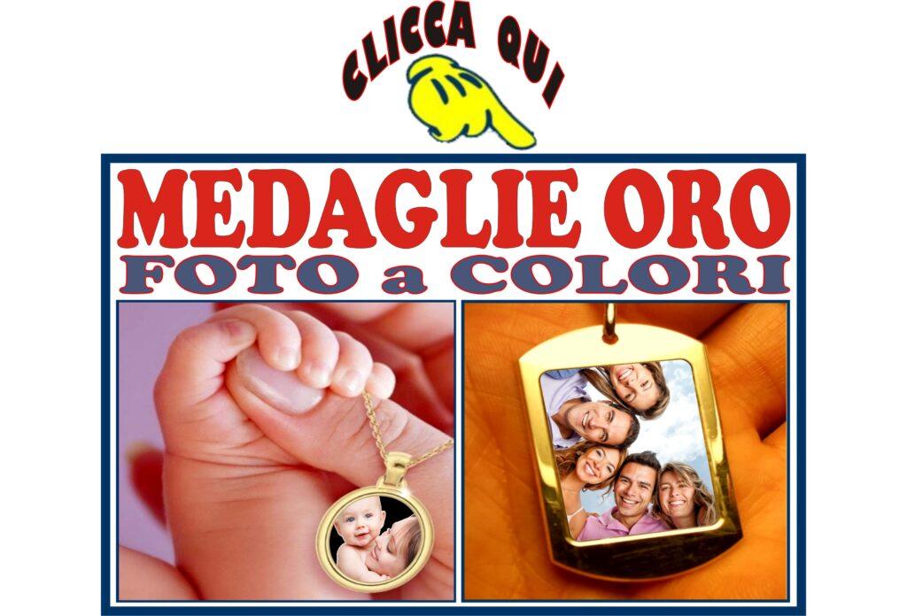 CIONDOLI oro medaglie collane da foto incidere con personalizzazione incisa su pendente foto a colori