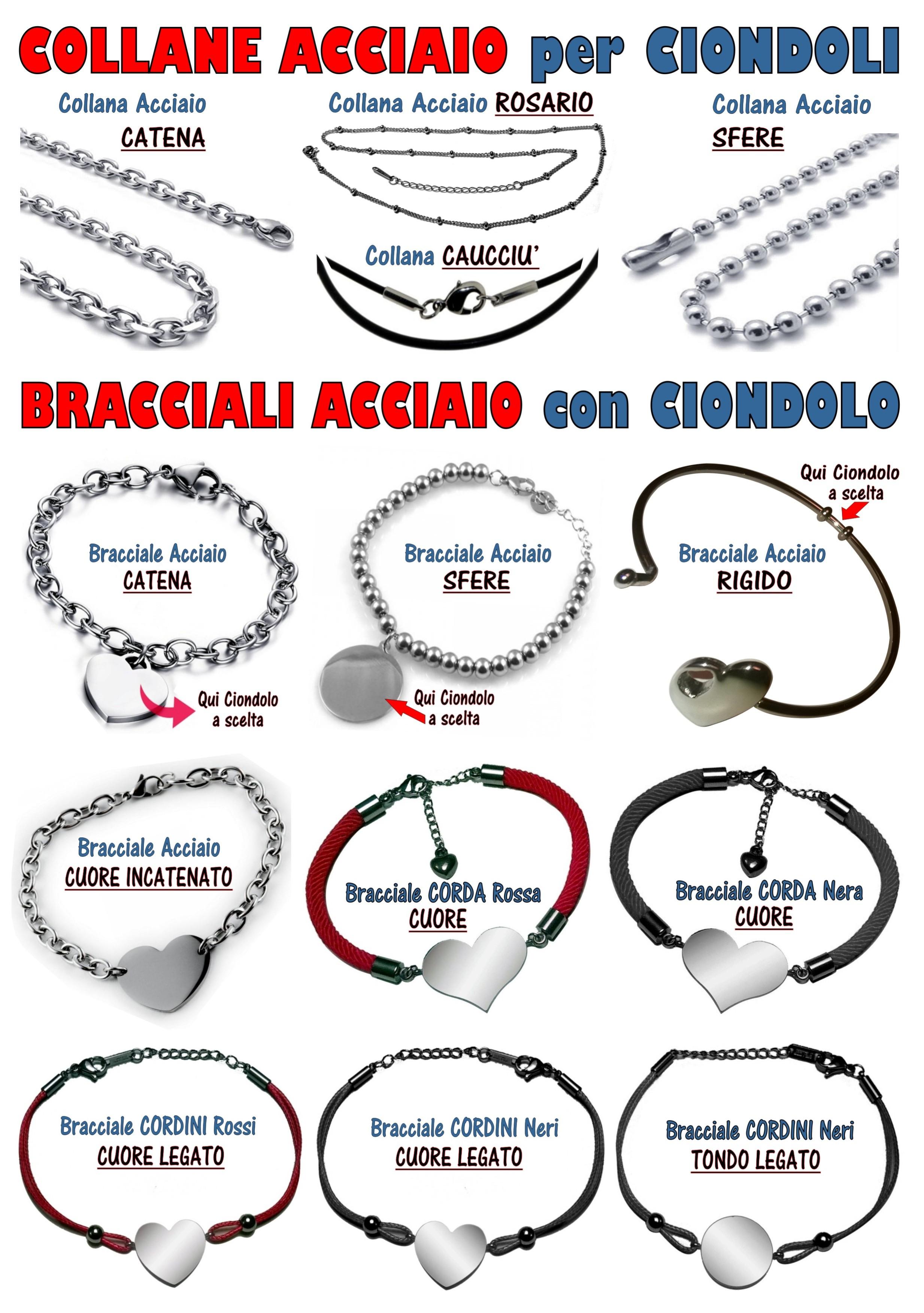 collane, bracciali, ciondoli, medaglie, personalizzabili, incisione