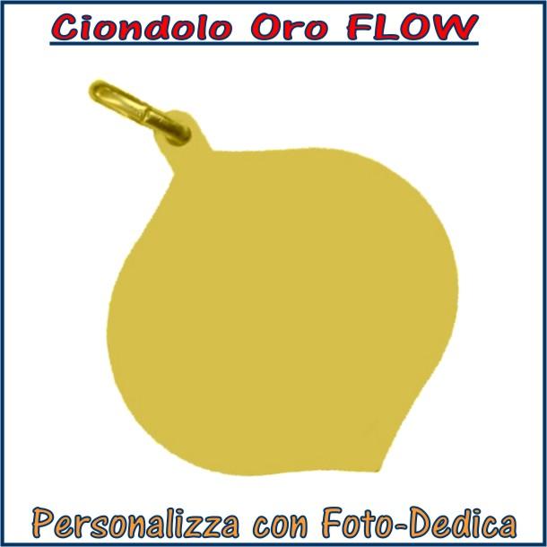ciondolo oro flow da incidere con fotoincisione medaglia collana personalizzato personalizzazione incisione