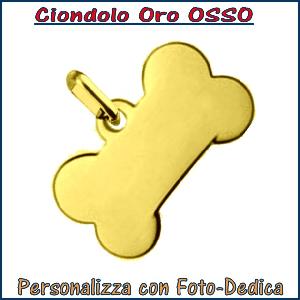 ciondolo oro osso da incidere con fotoincisione medaglia collana personalizzato personalizzazione incisione