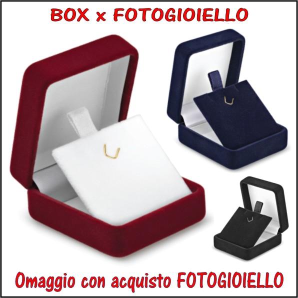 box scatoletta omaggio x FOTOGIOIELLO orecchini personalizzati argento a colori incisione personalizzazione ciondoli pendenti acciaio oro