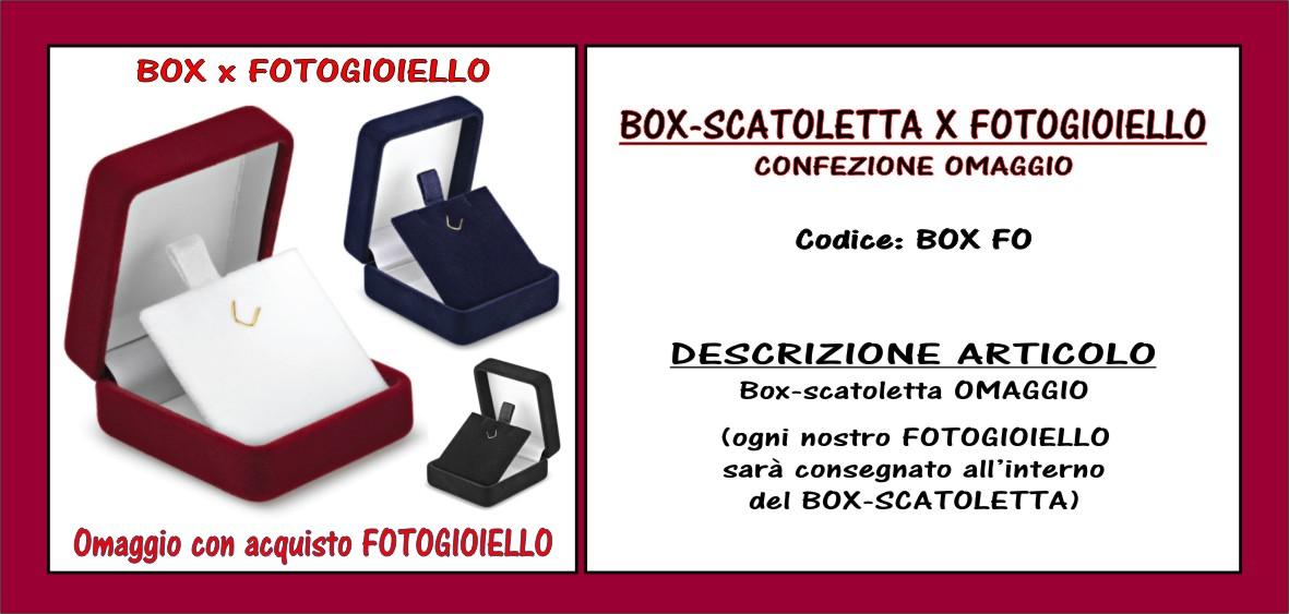 box scatoletta omaggio x FOTOGIOIELLO ciondolo