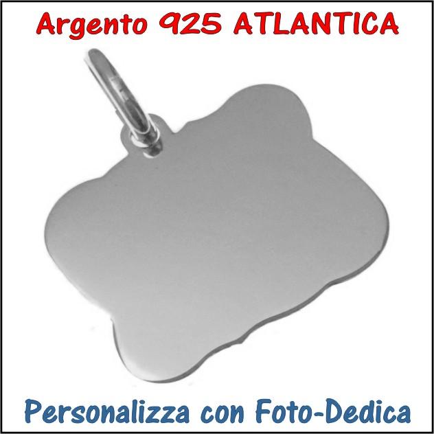 medaglia argento atlantica da incidere con foto incisione