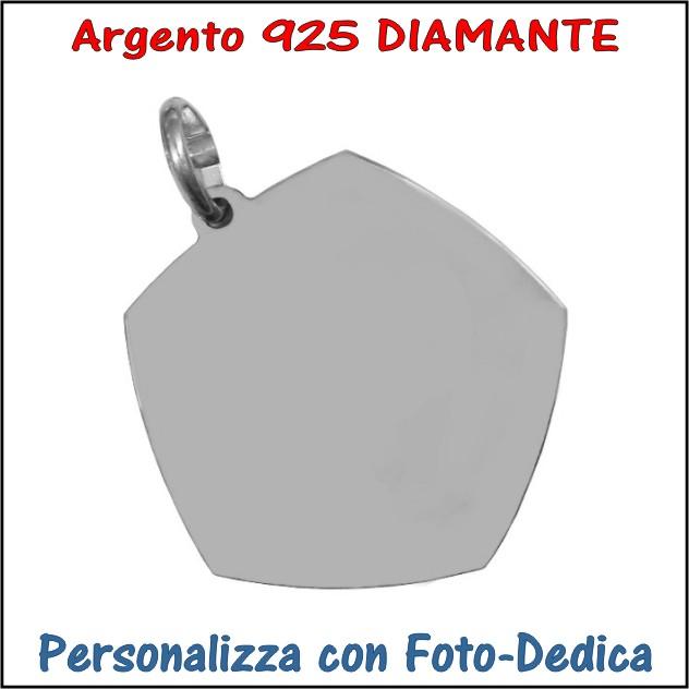 medaglia argento diamante da incidere con foto incisione