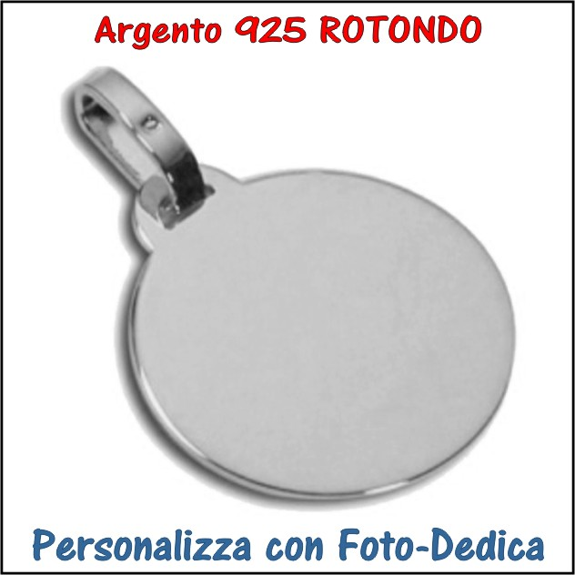 medaglia argento rotondo da incidere con foto incisione