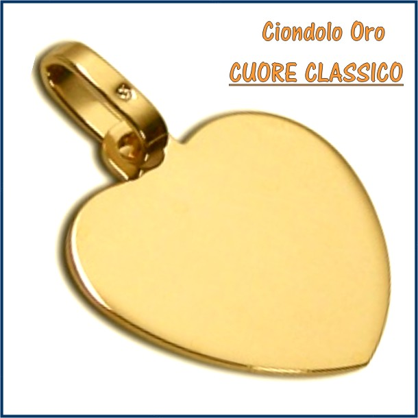 ciondolo medaglia oro personalizzato inciso cuore fotoincisione