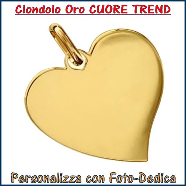 ciondolo medaglia collana oro personalizzato inciso cuore trendy fotoincisione personalizzazione incisione