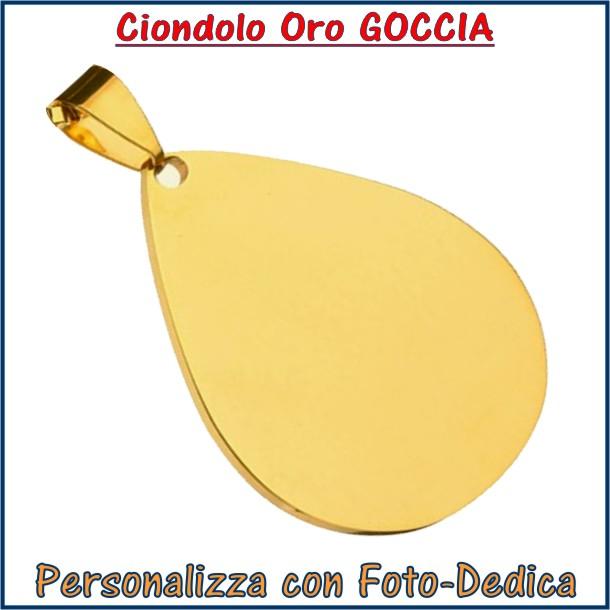 ciondolo oro foto incisione personalizzato