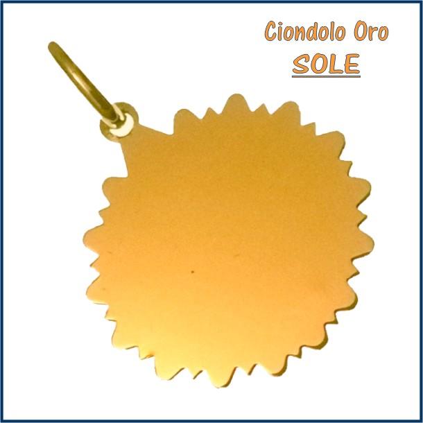 ciondolo medaglia oro personalizzato inciso sole fotoincisione