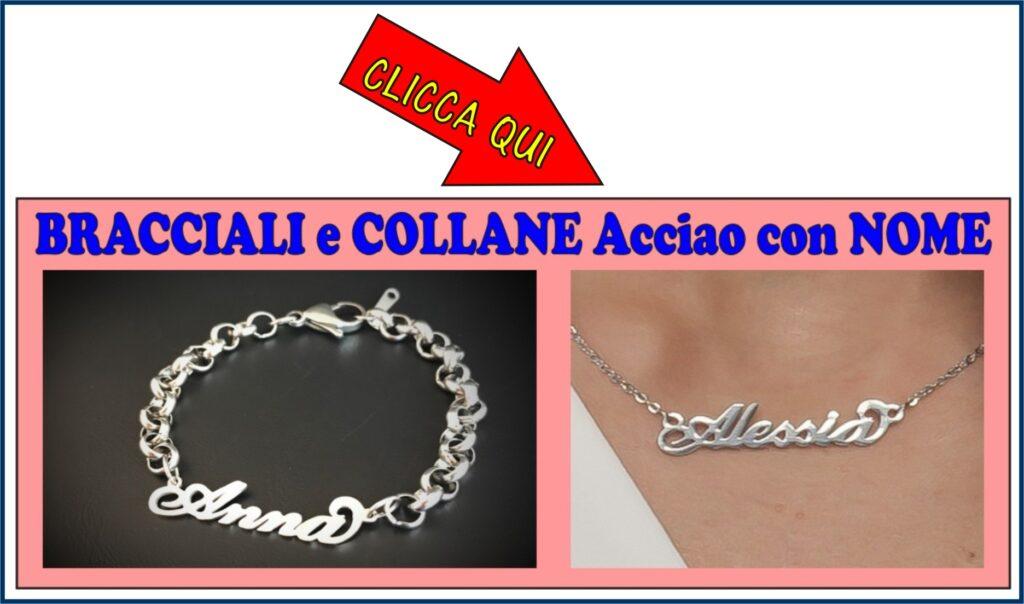 bracciali collane col nome personalizzato acciaio