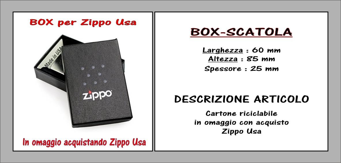 descrizione box-scatola zippo usa