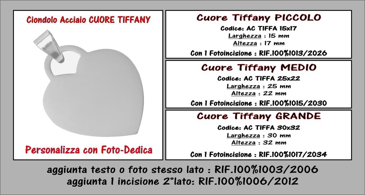 descrizione ciondolo acciaio tiffany
