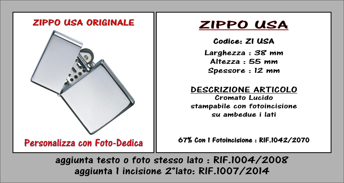 descrizione zippo usa originale
