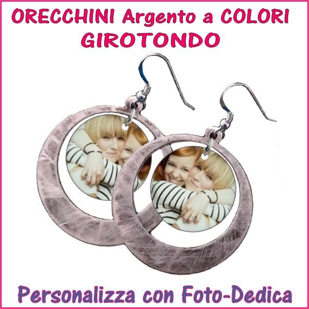 orecchini personalizzati argento a colori incisione personalizzazione ciondoli pendenti acciaio oro