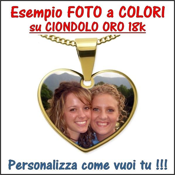 stampa personalizzazta a colori su ciondolo,medaglia,pendente,acciaio,argento,oro e incisione, personalizzazione foto